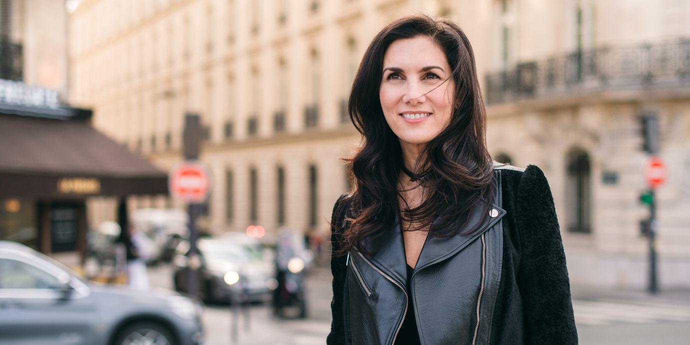 Elisabeth-Jones Hennessy on the street in Paris