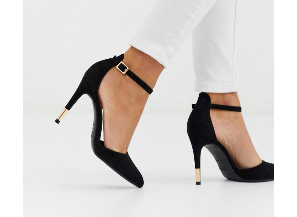 Asos New Look Point toe heeled shoes in black