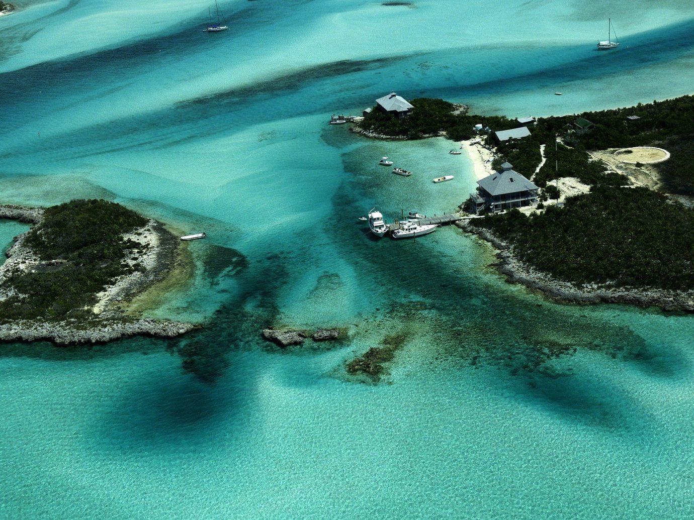 Aerial shot of Nassau, Bahamas