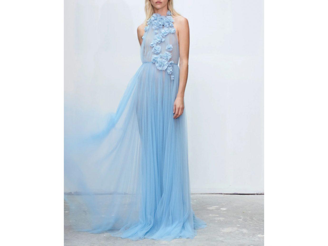Jason Wu Floral-Embellished Tulle Halter Gown