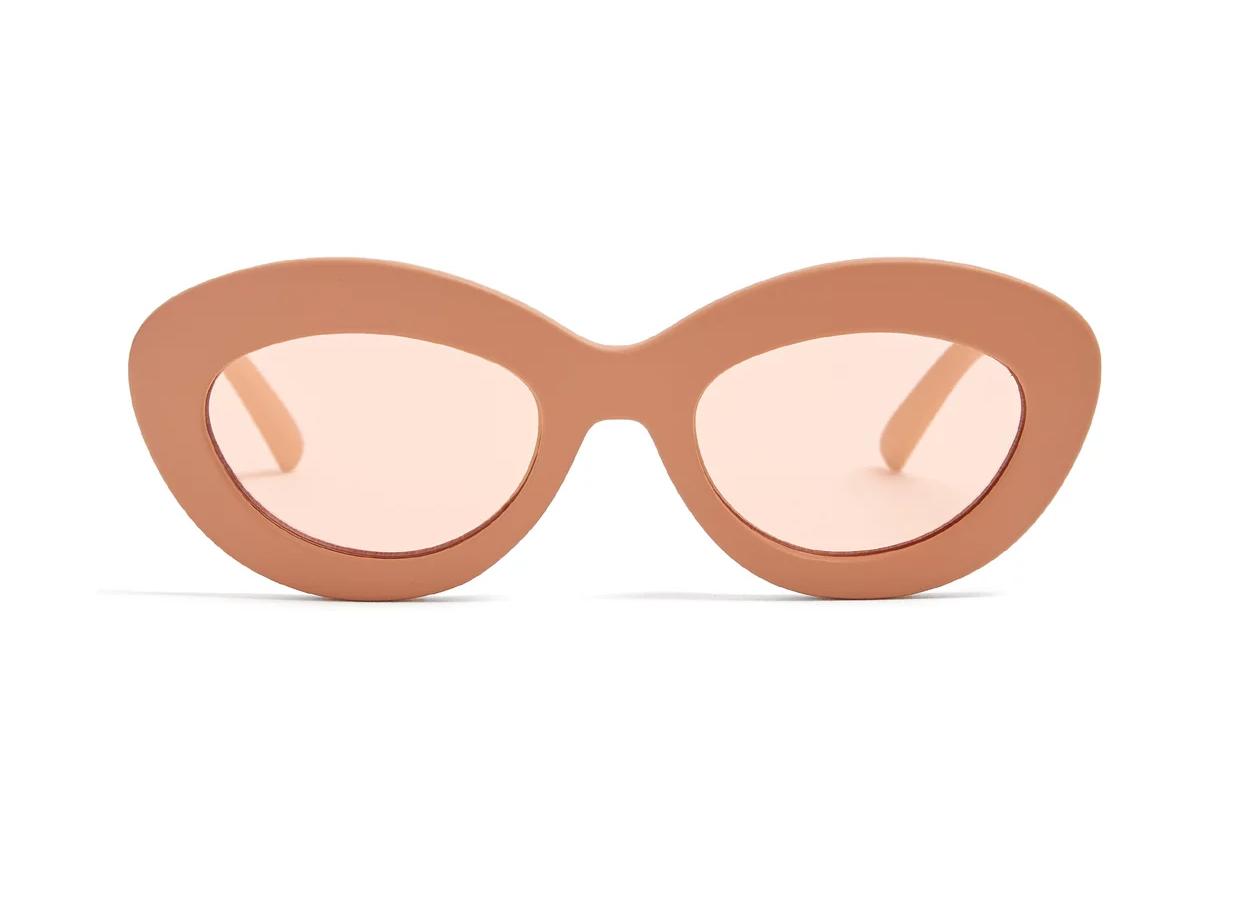 LE SPECS Fluxus oval cat-eye acetate sunglasses