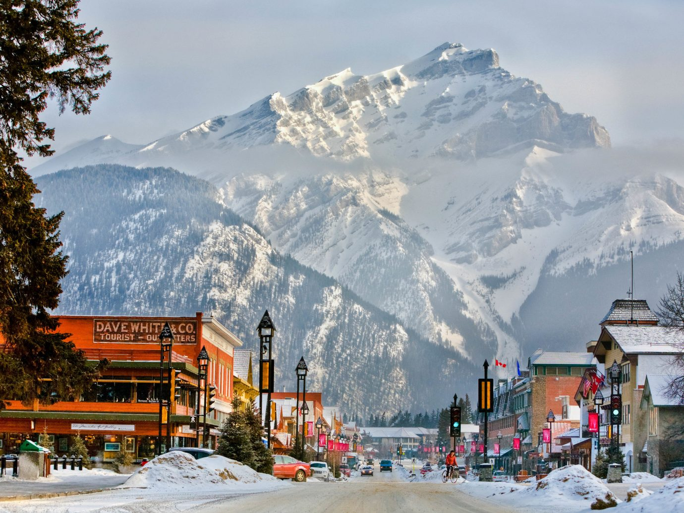 Downtown with Mt. Norquay in the background