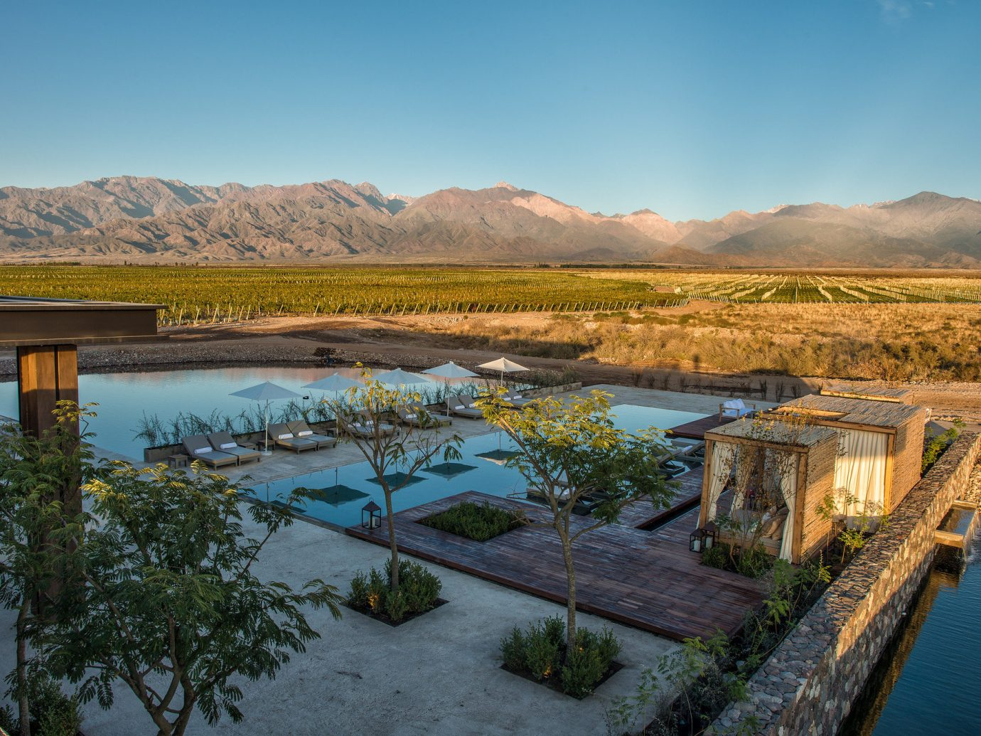 The Vines Resort & Spa patio and vineyard