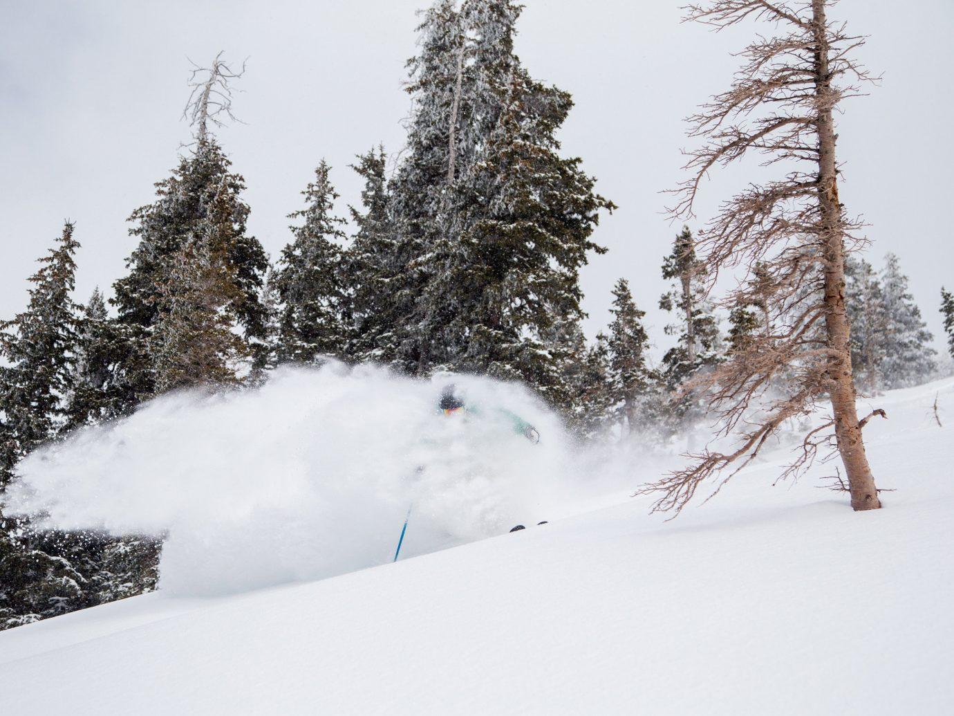 Man skiing on Bright Ski Resort slope