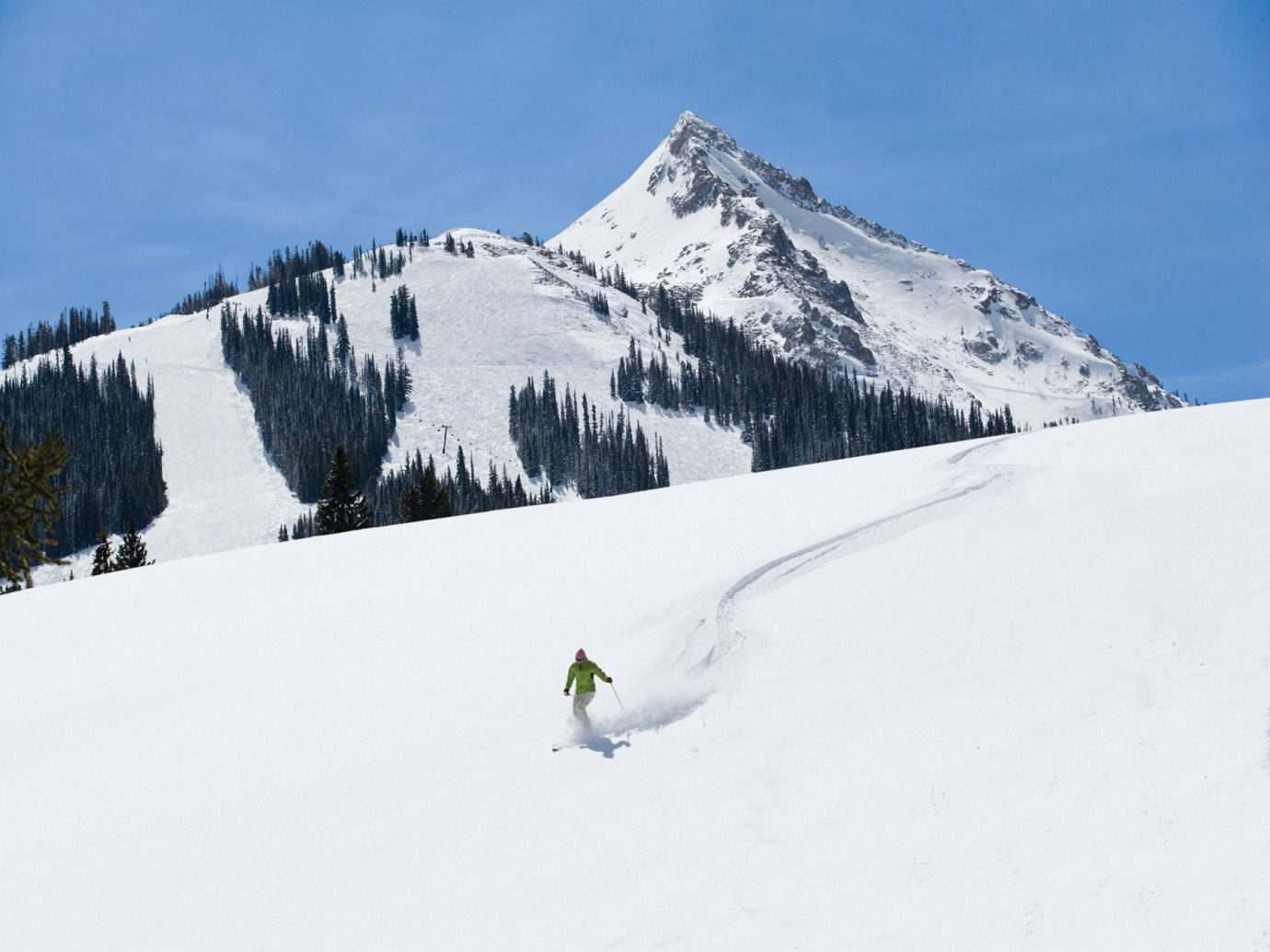 Man skiing at Crested Butte