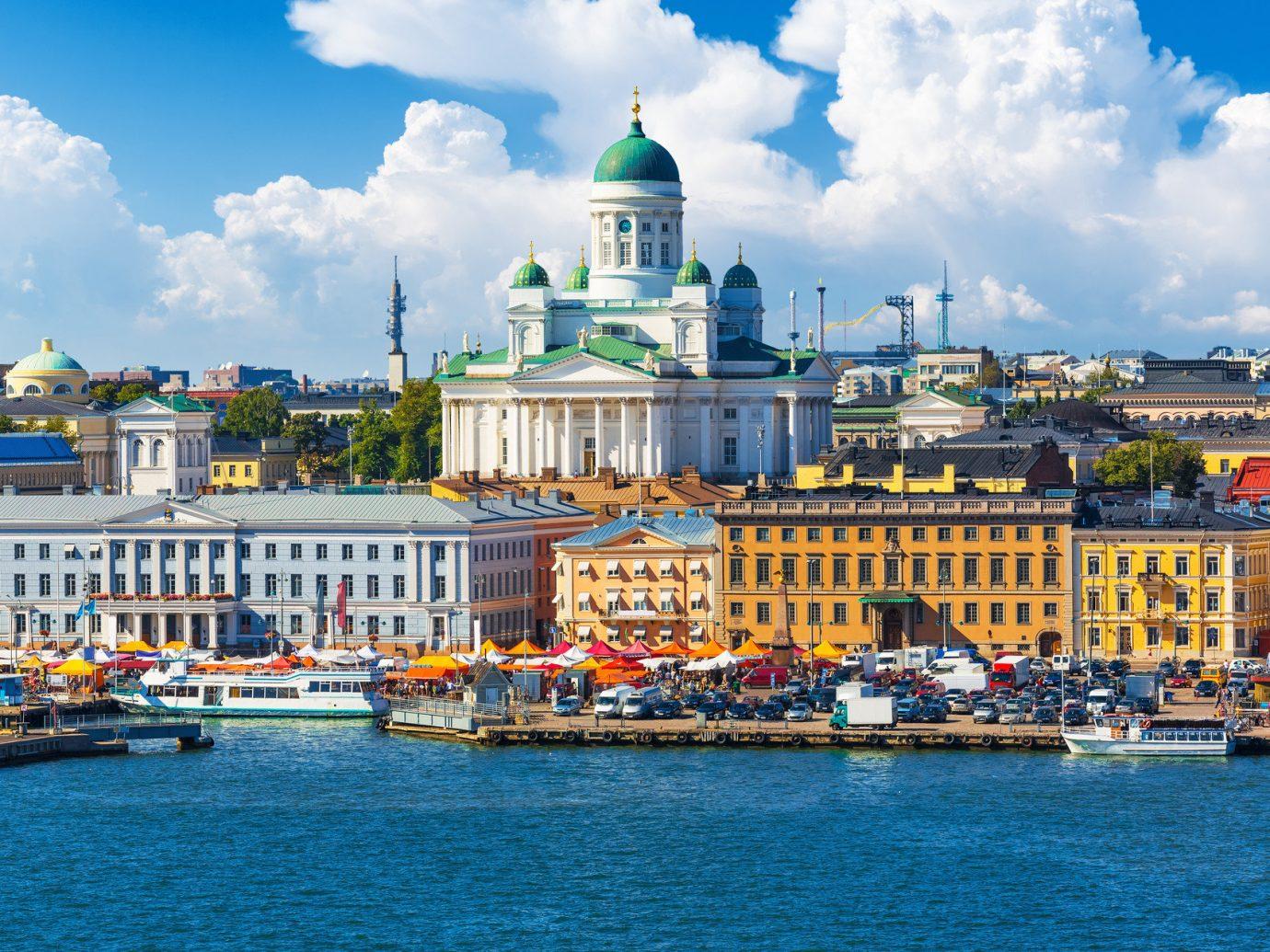 Skyline of Helsinki Finland