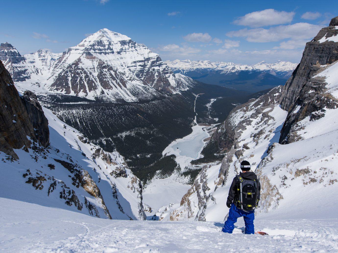Man overlooking Mt. Norquay