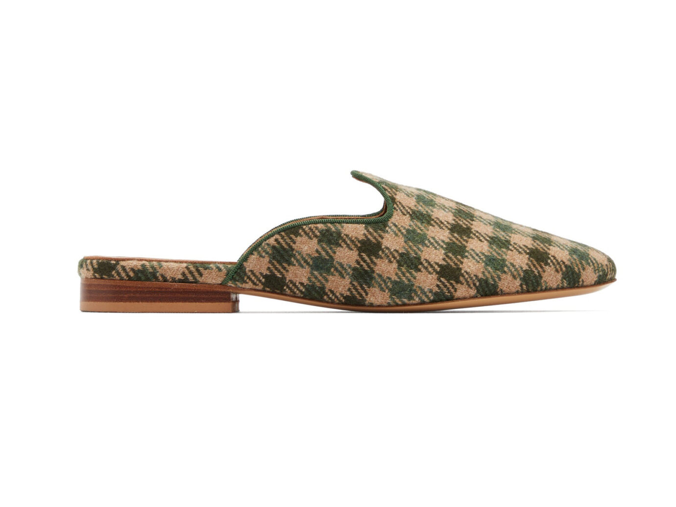Giuliva Heritage Collection X Le Monde Beryl Venetian houndstooth-wool mules
