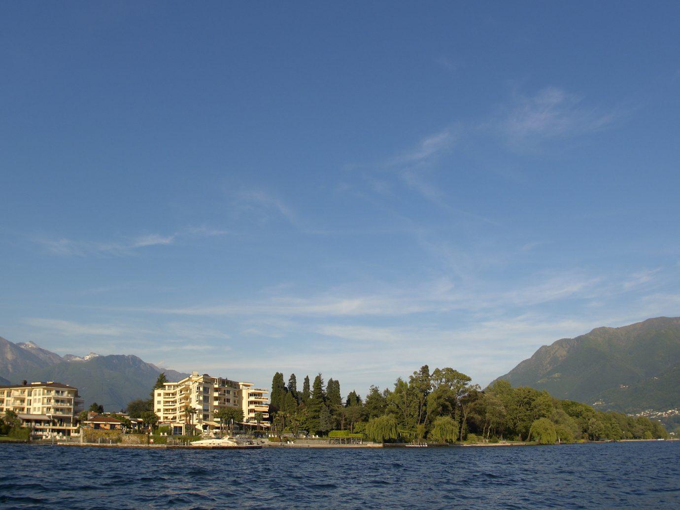 View of Hotel Eden Roc in Lake Maggiore