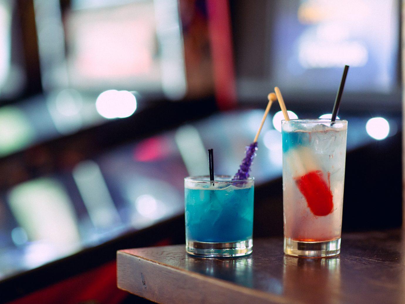 drinks at 16 Bit Bar + Arcade