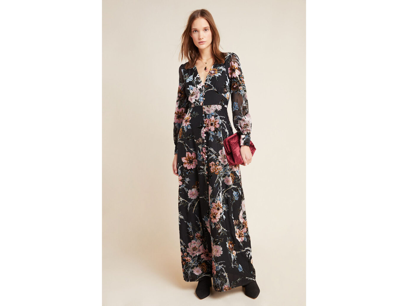 Yumi Kim Burnout Velvet Maxi Dress