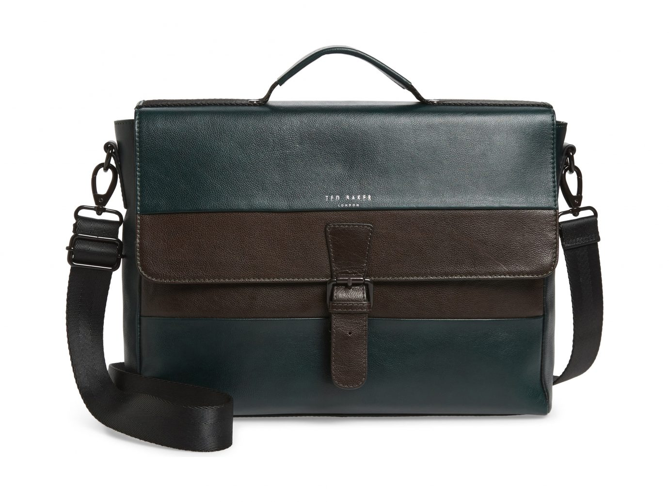 Briefcase, Main, color, DARK GREEN Leather Briefcase TED BAKER LONDON