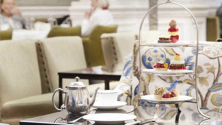 High tea at the Balmoral hotel