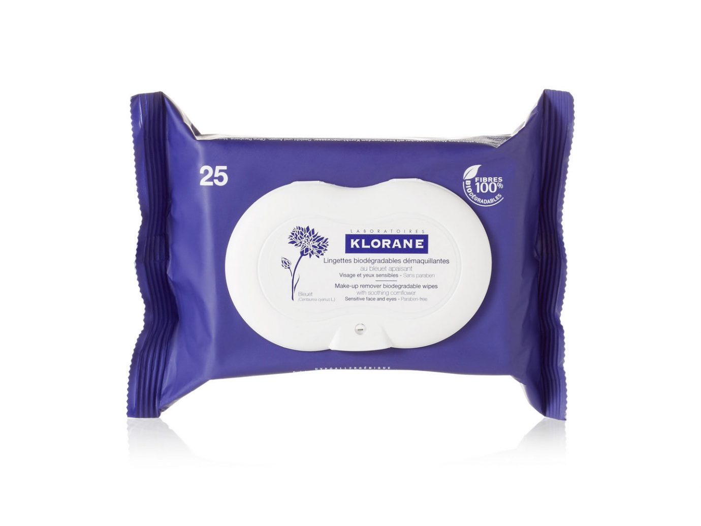 Klorane Makeup Remover Biodegradable Wipes with Soothing Cornflower
