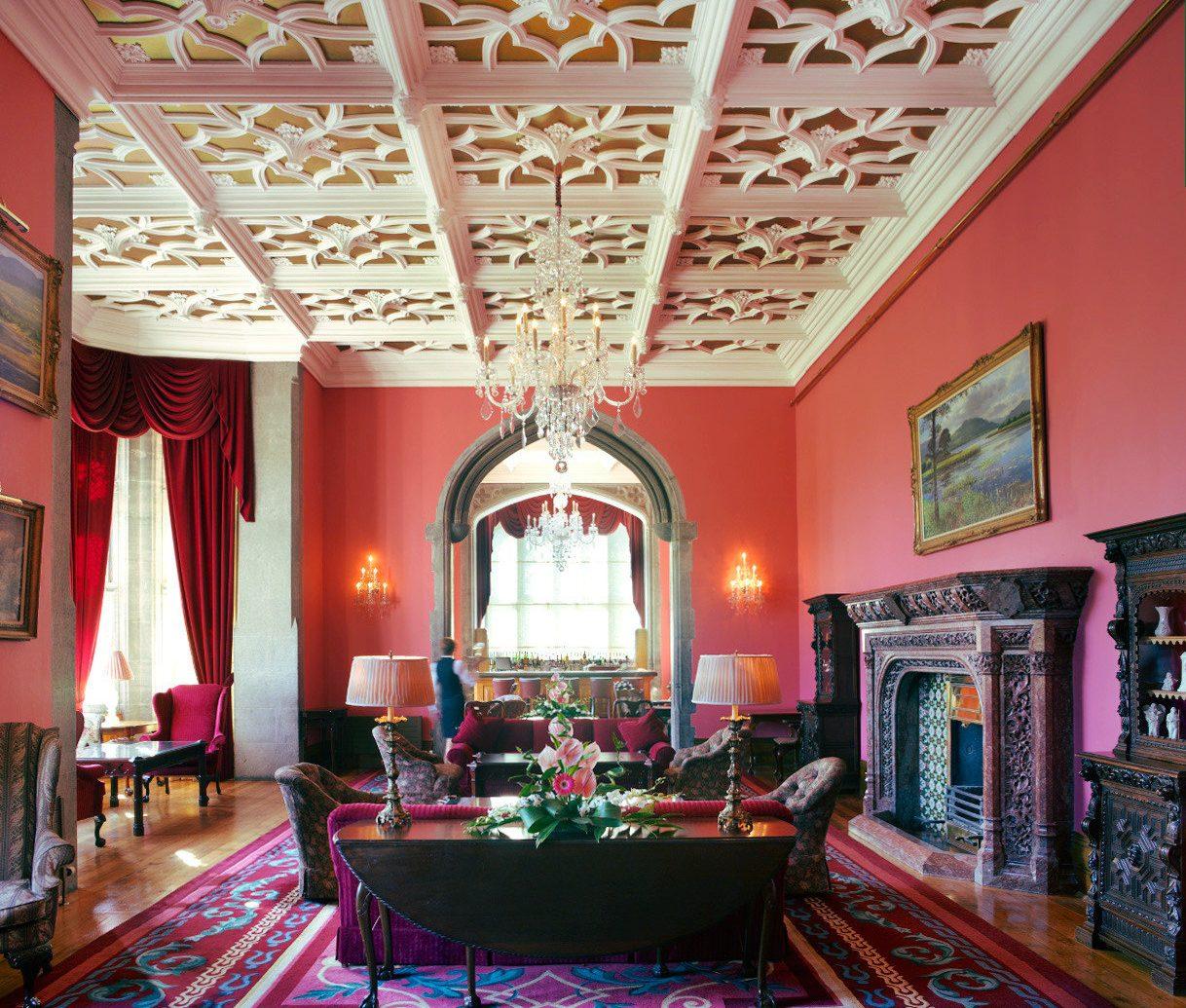 Living room at Adare Manor in Ireland