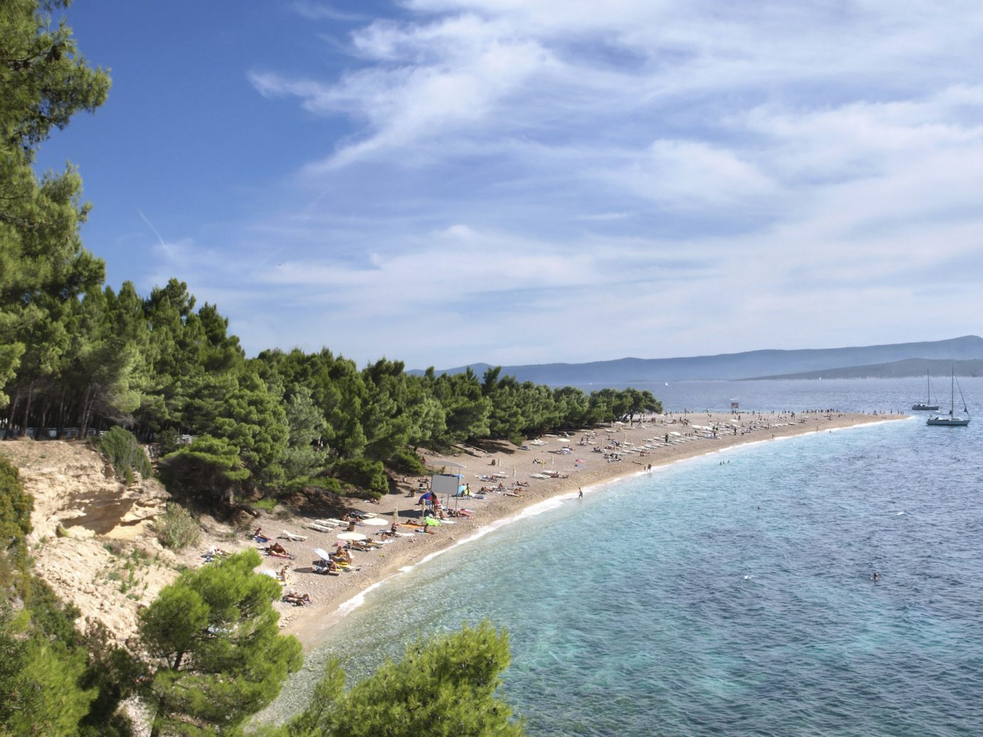 Beach in Rovinj, Croatia