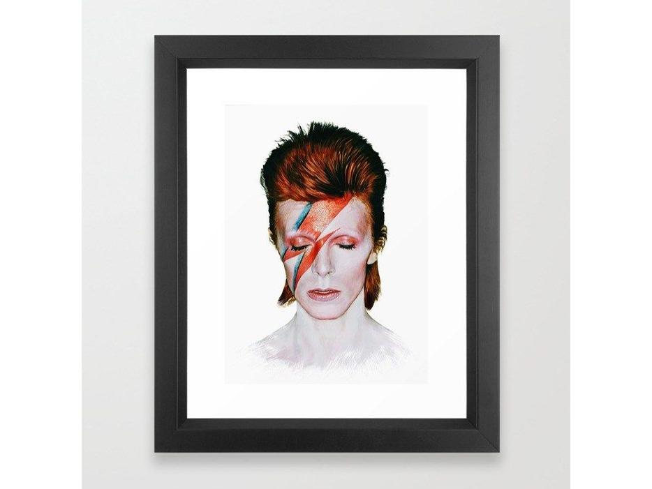 David Bowie framed art print