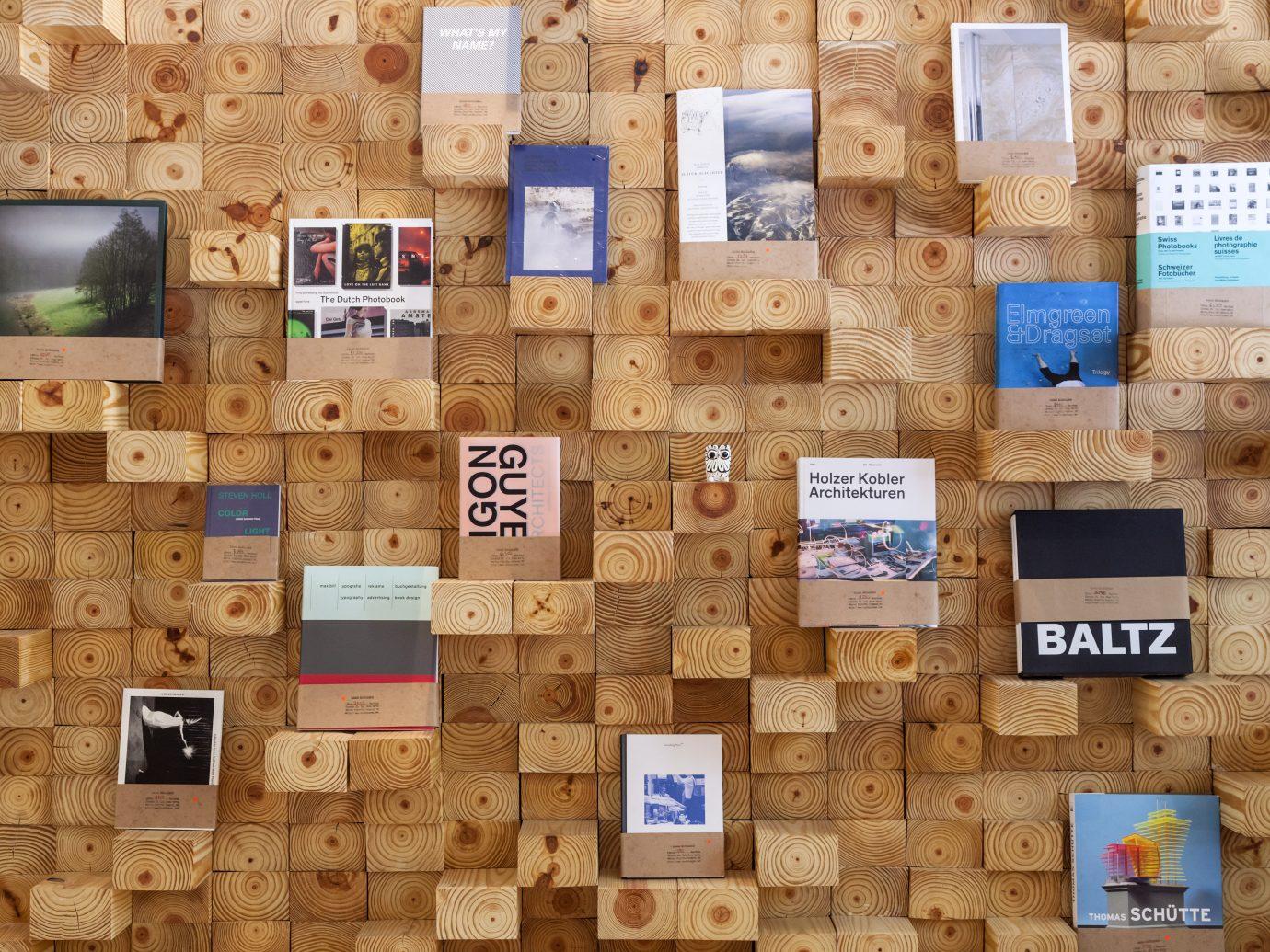 Modern handmade hip bookshelf at Casa Bosques