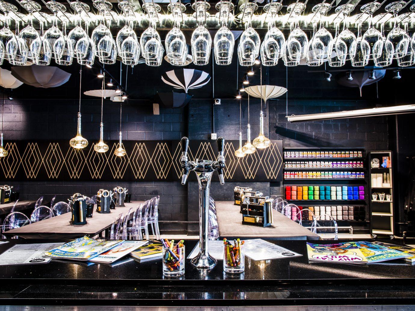 View of the bar at Upstairs Circus