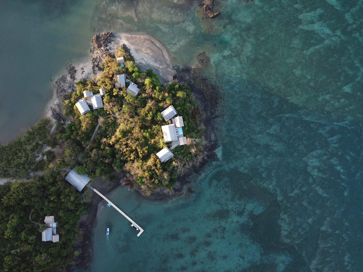 Aerial shot of Islas Secas