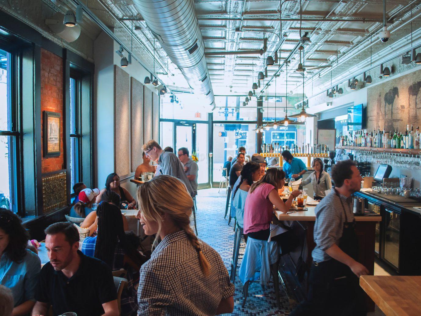 interior of the restaurant at Taste of Belgium