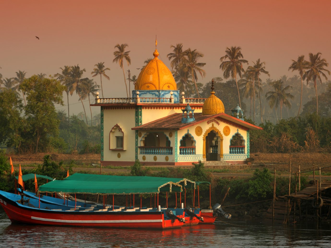 Hindu Temple on the water in Goa