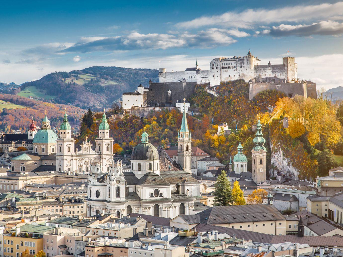 Salzburg, Austria in autumn