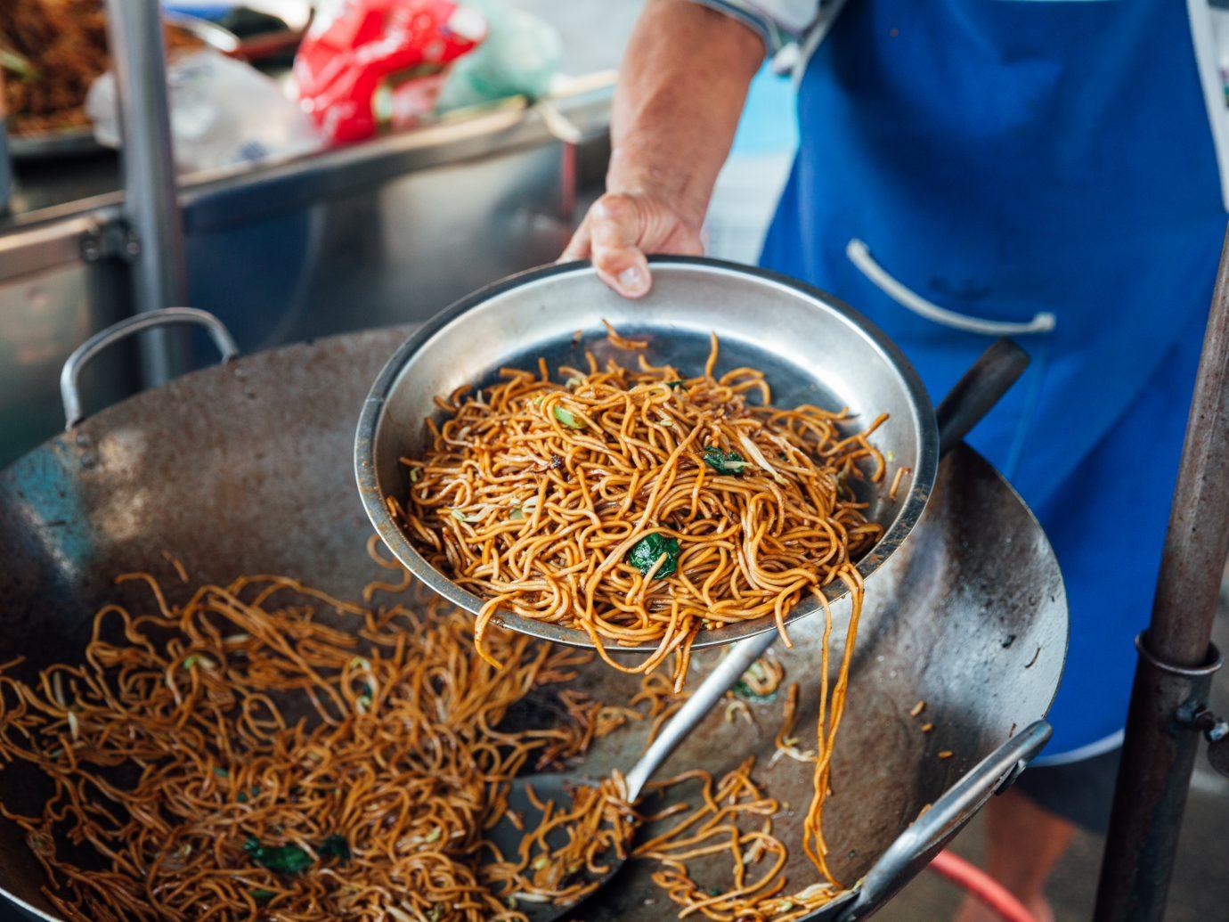 Street food at Kimberly Street Food Night Market. George Town, Penang, Malaysia.