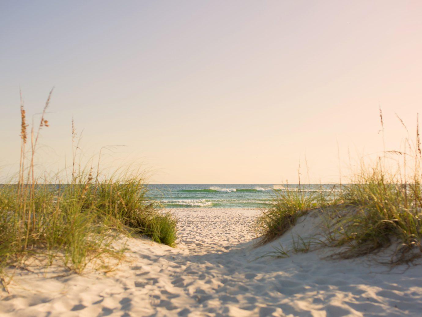 Pure beach image on coast of Florida