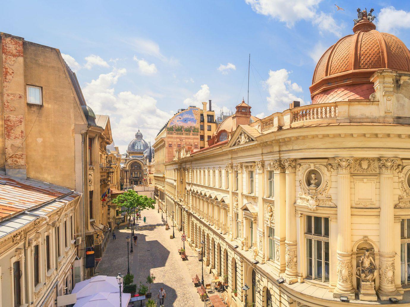 street view of Bucharest, Romania