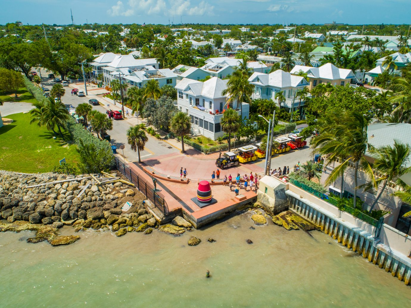 Aerial drone photo of scenic Key West Florida USA