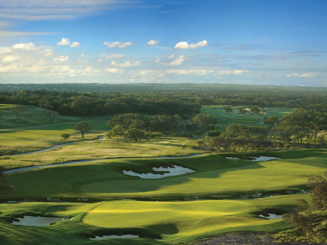 Golf course landscape in San Antonio
