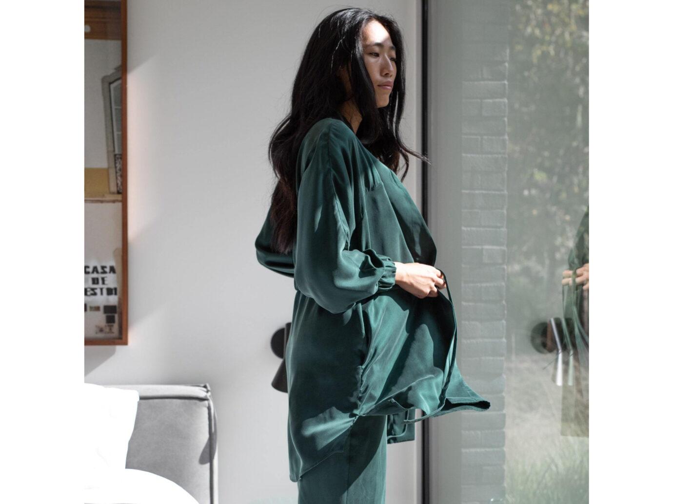 Lunya silk robe