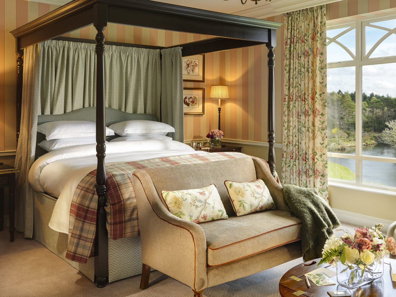 Bedroom at Ballynahinch Castle in Ireland