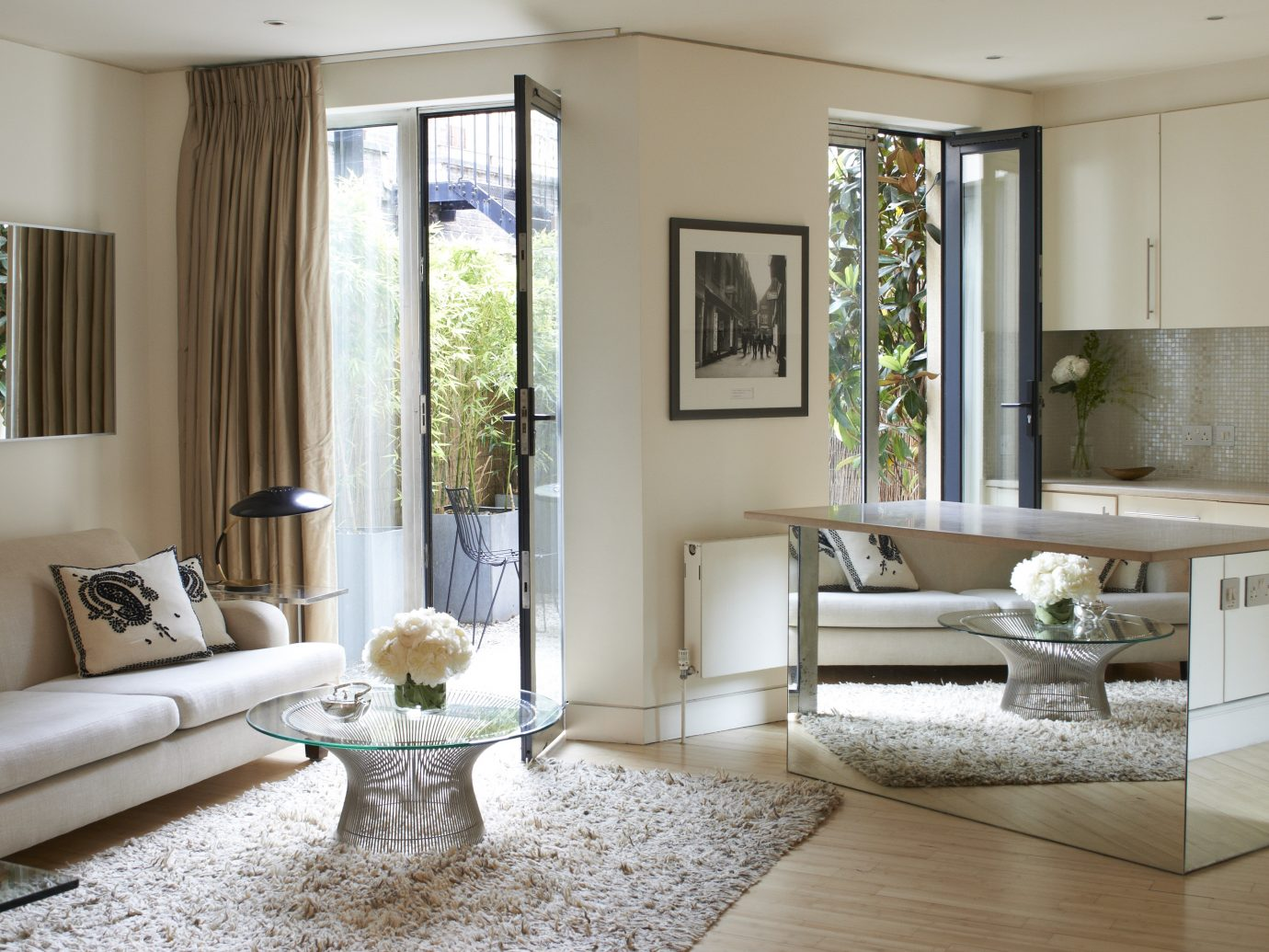 Living room interior at the Maddox St portion of the Living Rooms in London