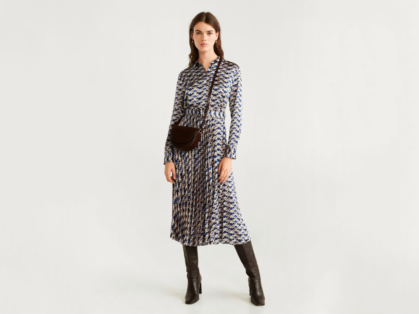 Mango Geometric Print Dress