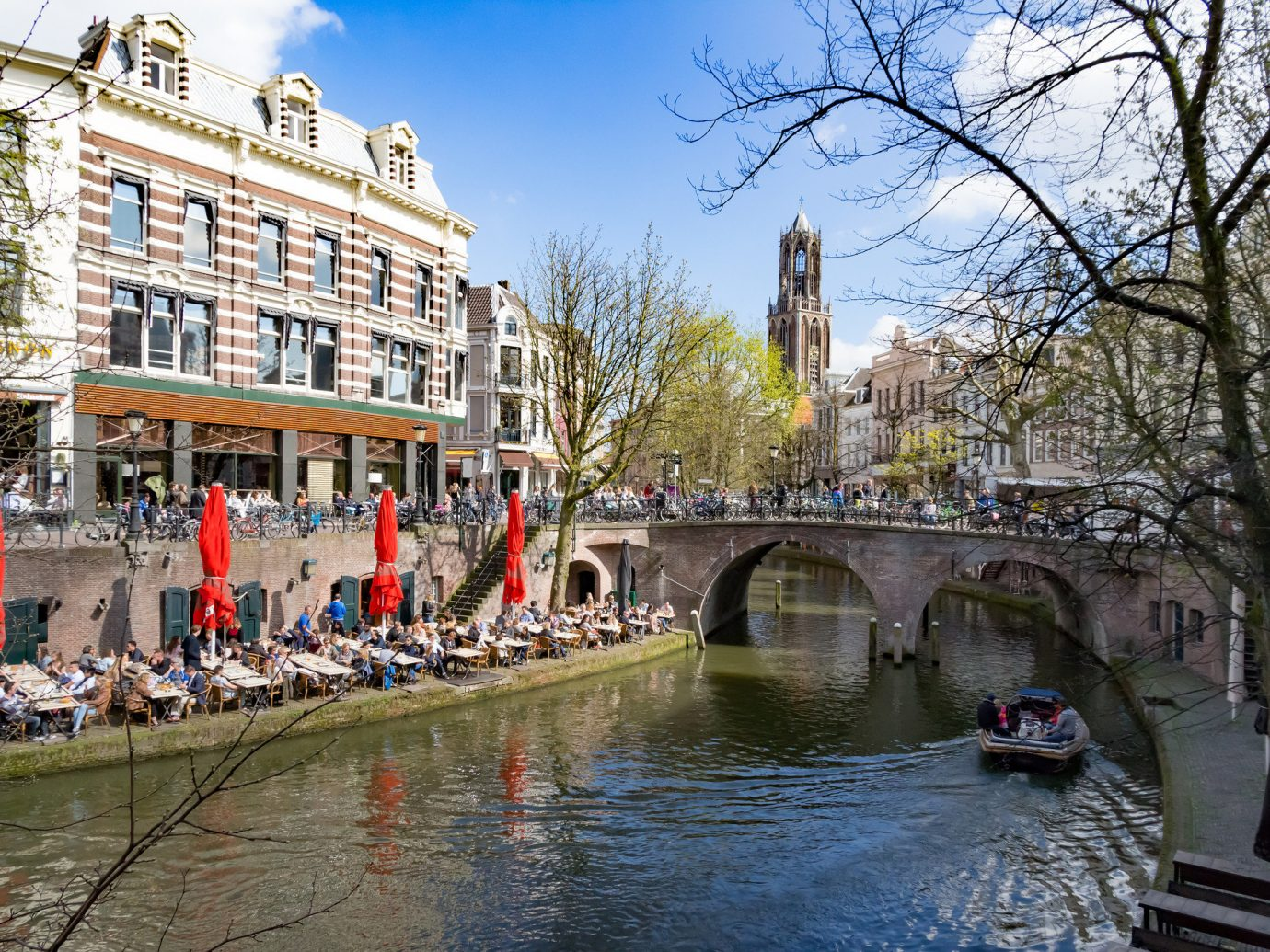 Canal view in Utrecht The Netherlands