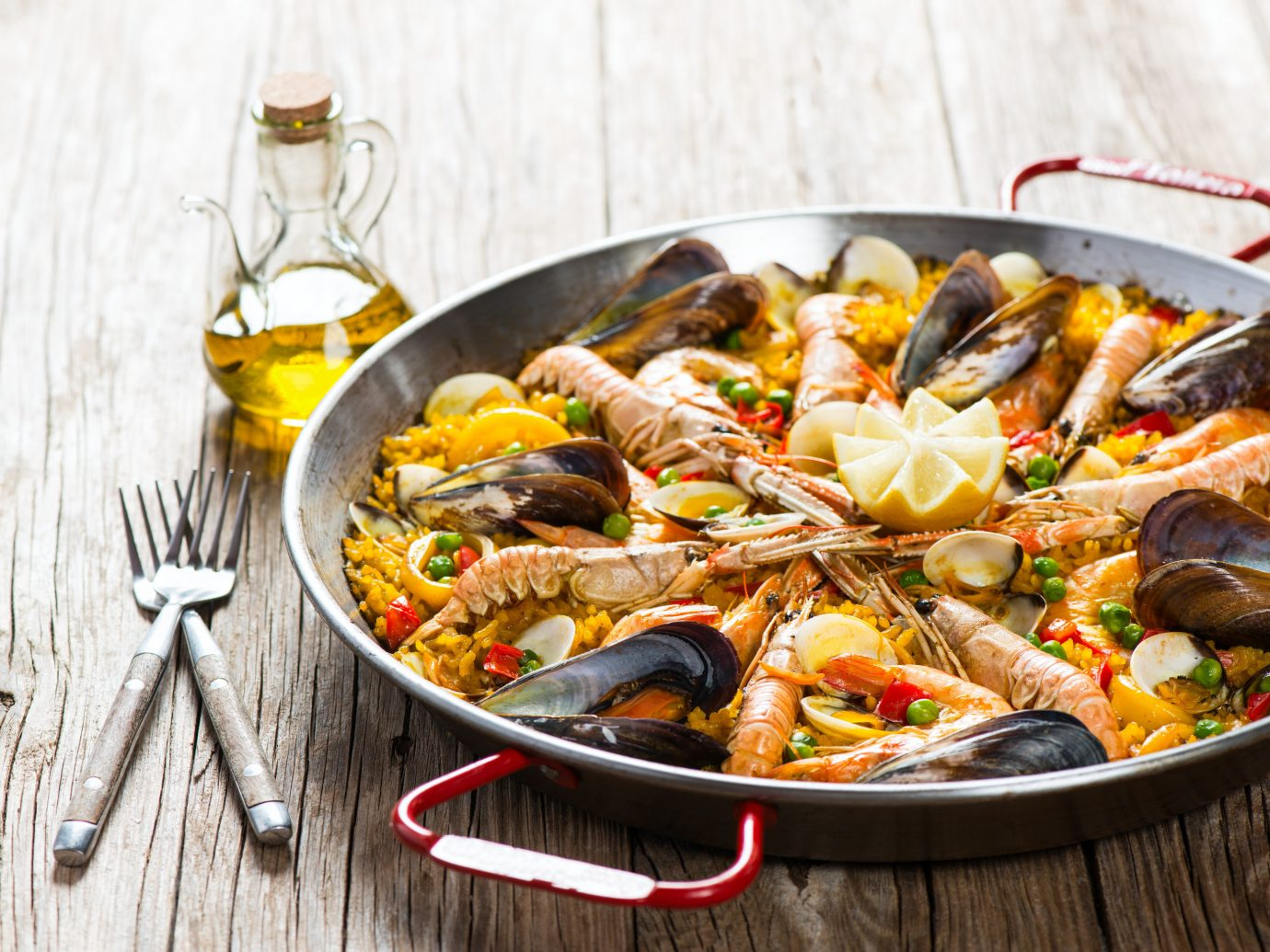 Traditional paella in Spain
