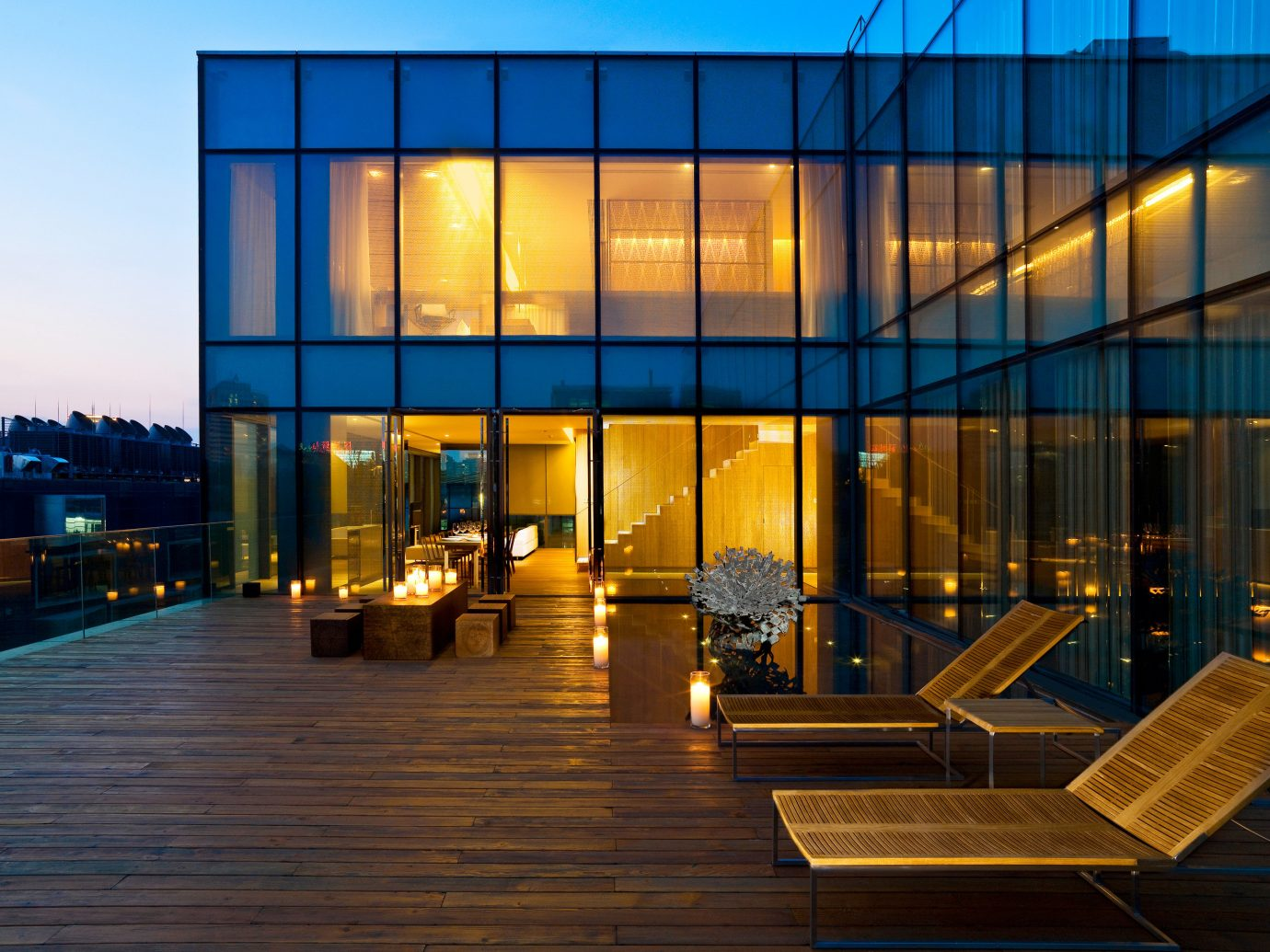 outdoor deck at The Opposite House in Beijing