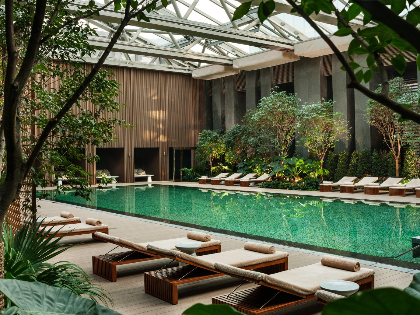 View of the pool at Rosewood Beijing