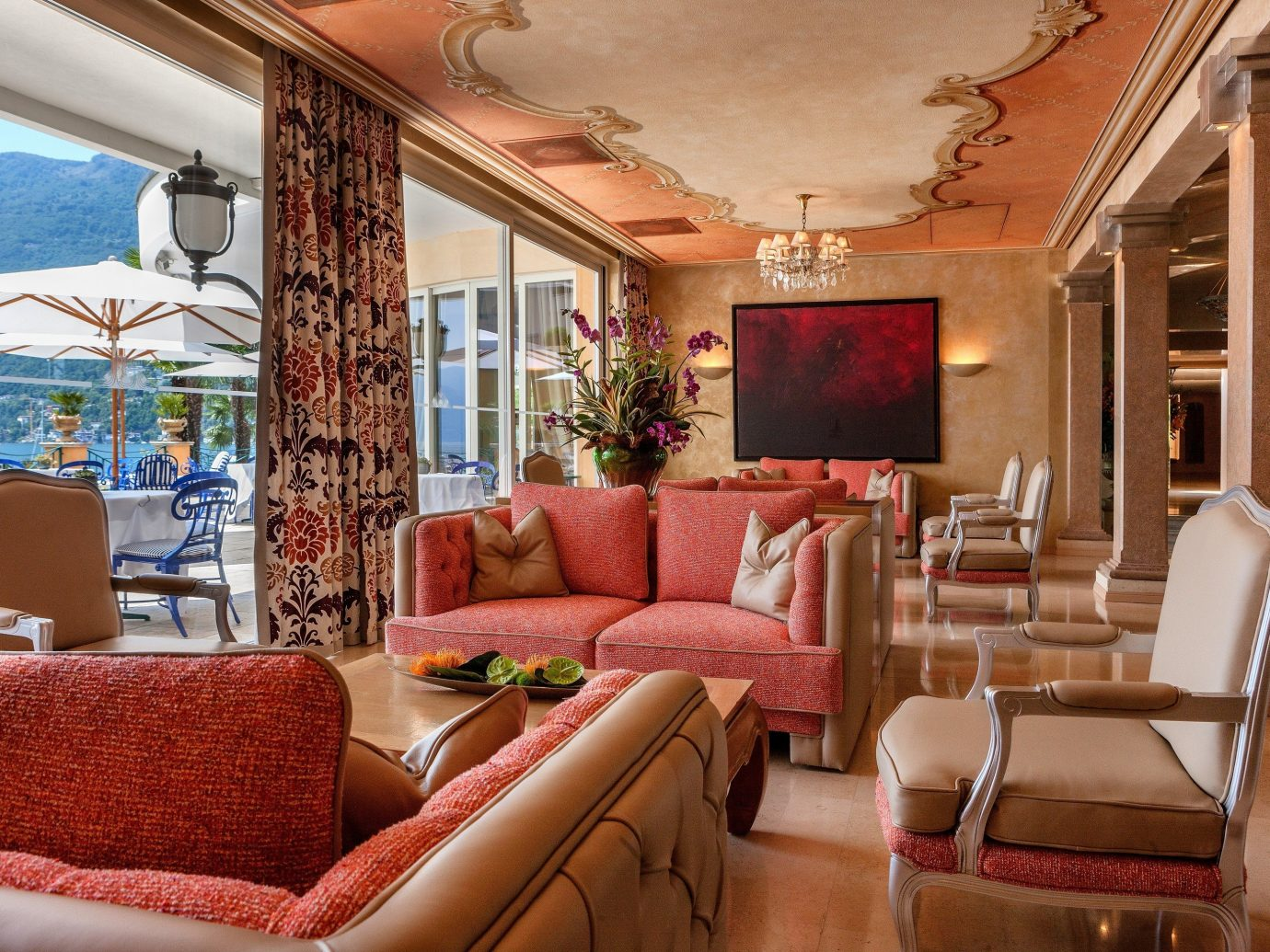 lounge area at Hotel Eden Roc