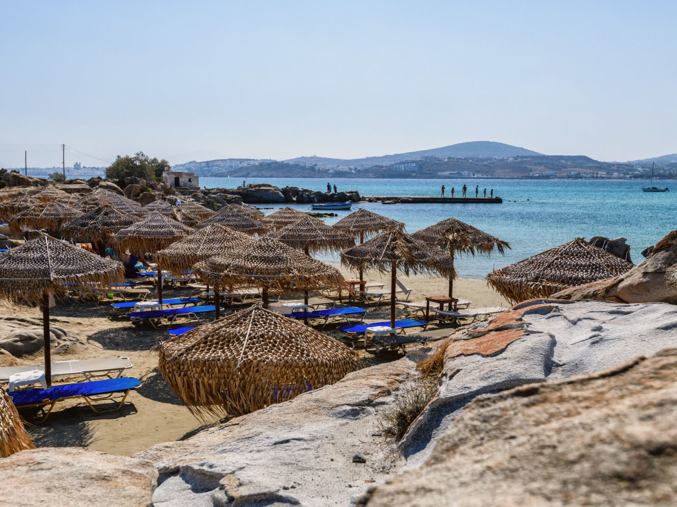 Beach in Naoussa, Greece