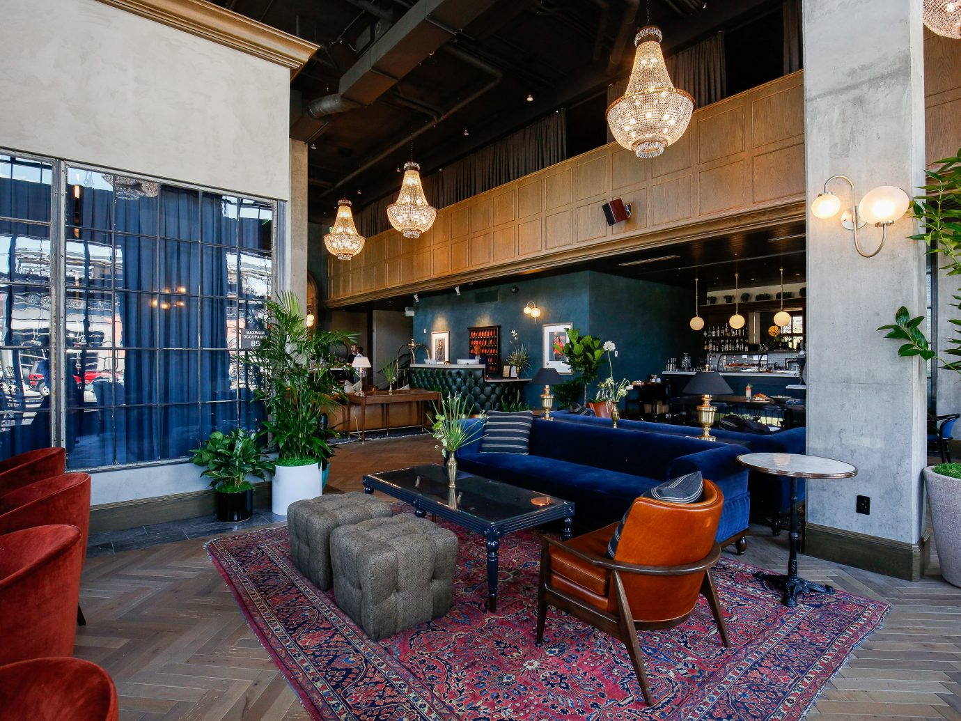 Lobby at The Ramble Hotel in Denver