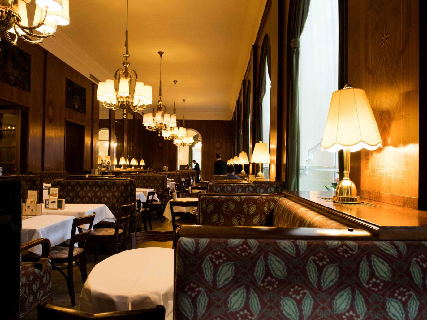 Tables at Café Landtmann in Vienna