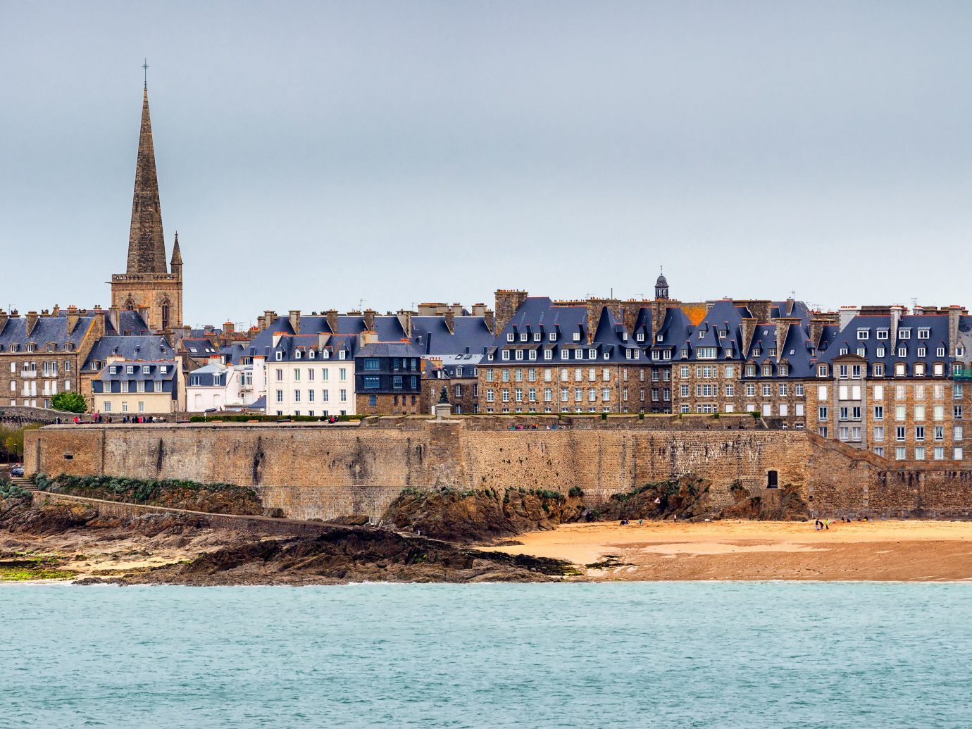 Cityscape in St. Malo, France