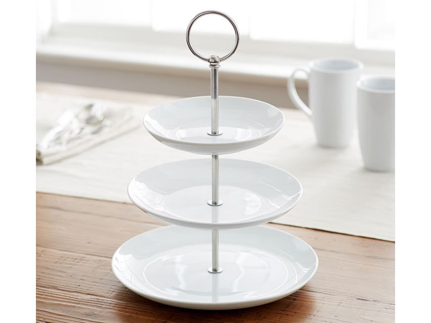 Pottery Barn Great White Three-Tier Stand