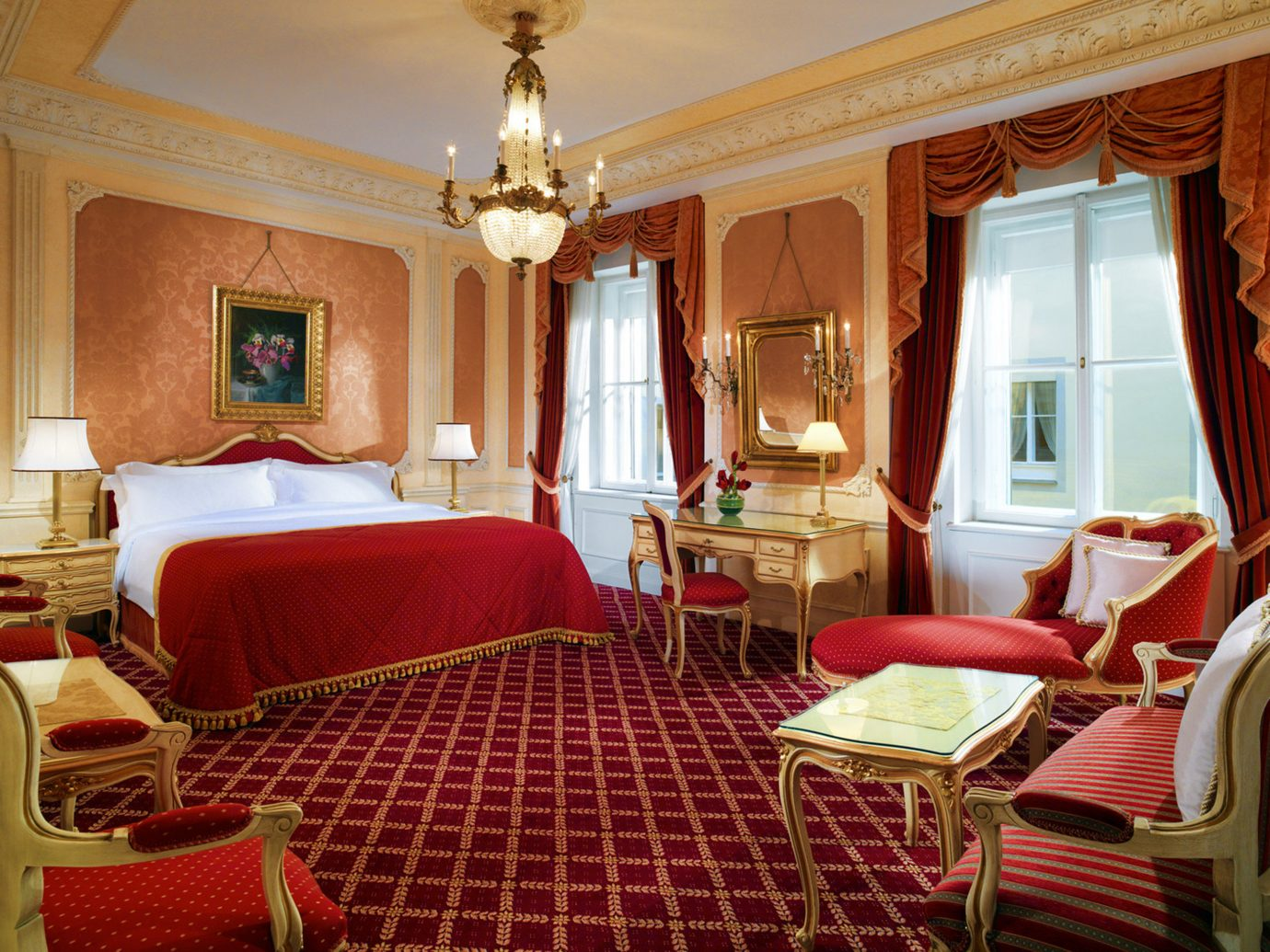 bedroom at Hotel Imperial in Vienna