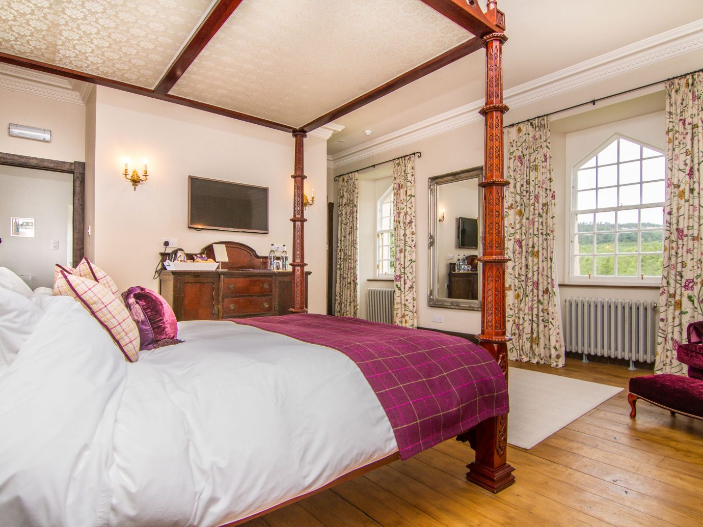 Honeymoon room at Duchray Castle in Scotland