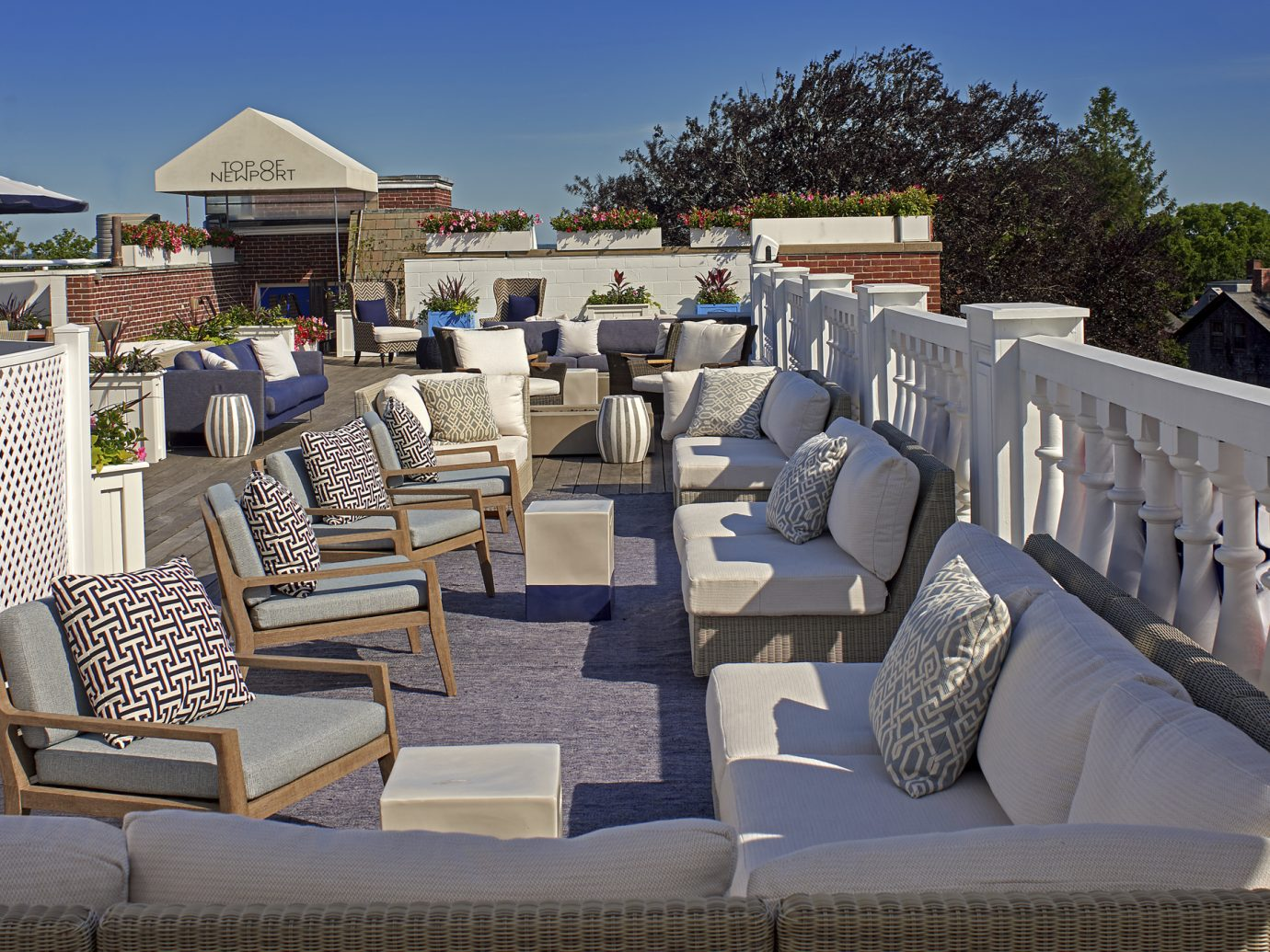 Terrace at Hotel Viking with seating