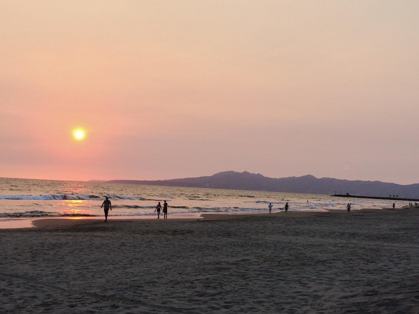 Sunset on the beach in Puerto Vallarta